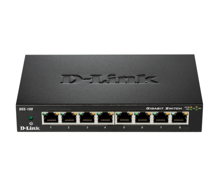 Switch D-LINK DGS-108E - 8 ports 10/100/1000 Mbps